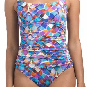 Profile by Gottex tommy control one-piece swimsuit